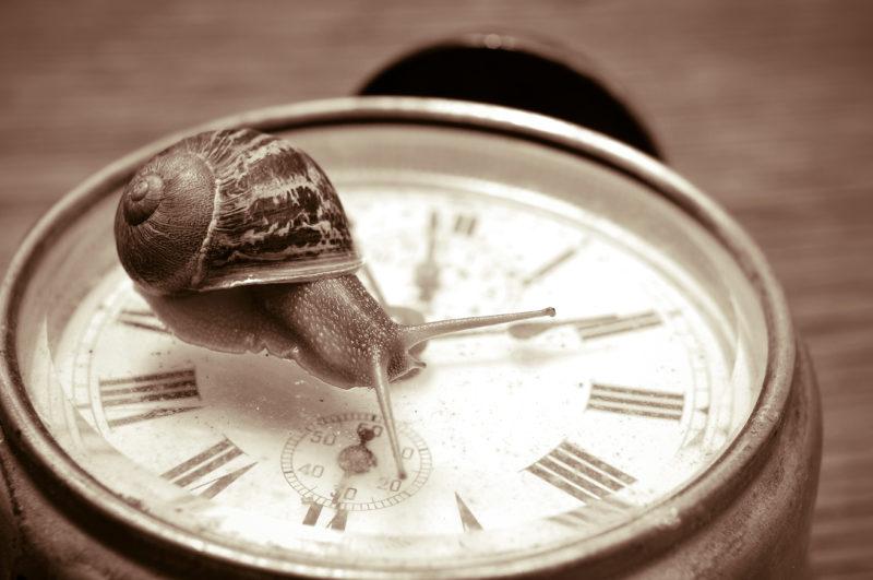 tijd loopt langzaam